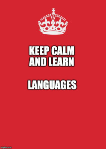 keep calm and learn languages